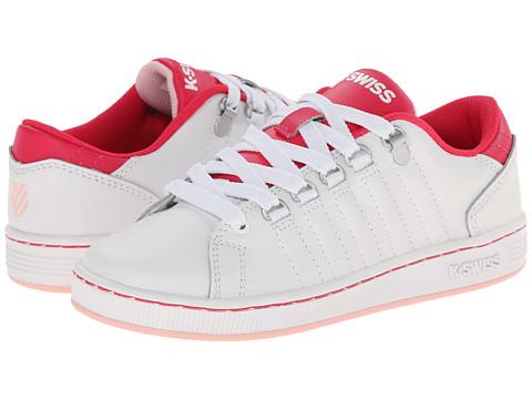 K-Swiss Kids - Lozan (Little Kid) (White/Raspberry/Crystal Rose) Girls Shoes