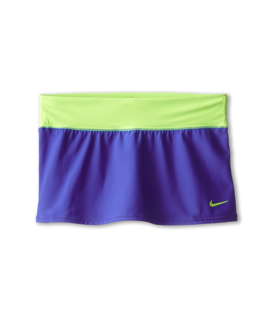 Nike Kids - Solid Swim Skirt (Big Kids) (Lyon Blue) Girl's Swimwear