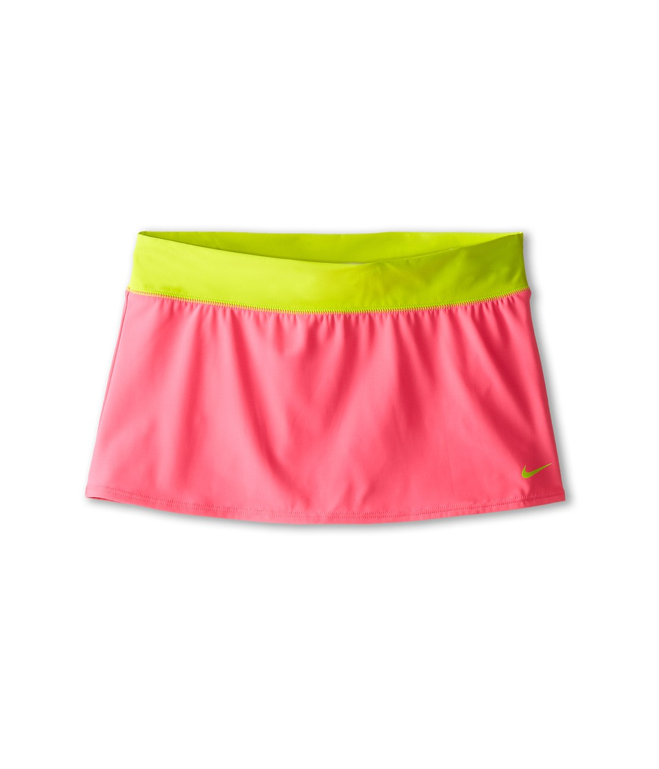 Nike Kids Solid Swim Skirt (Big Kids) (Pink Pow) Girl