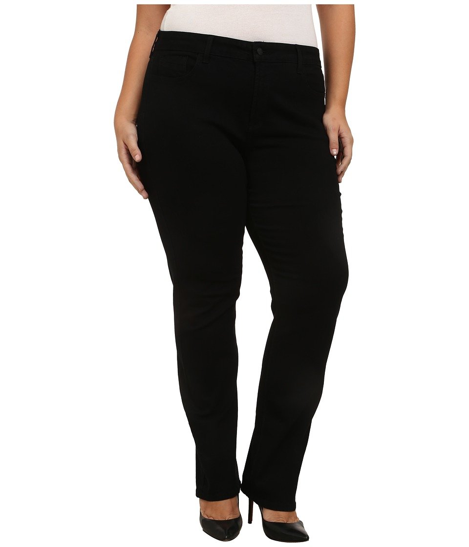 NYDJ Plus Size Plus Size Hayley Straight in Black (Black) Women's Jeans