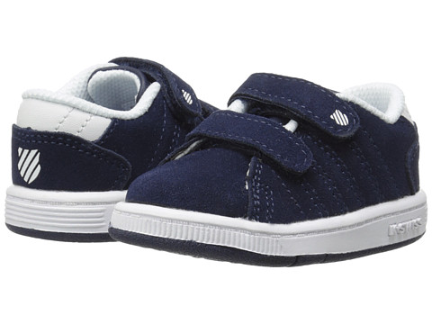 K-Swiss Kids - Lozan Strap DX SDE (Infant/Toddler) (Navy/White) Boys Shoes