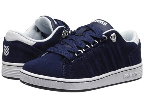 K-Swiss Kids - Lozan SDE (Little Kid) (Navy/White) Boys Shoes