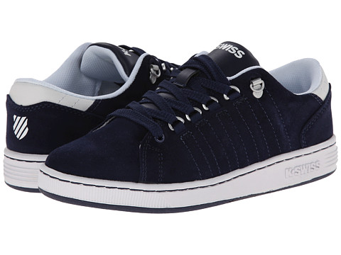 K-Swiss Kids - Lozan SDE (Big Kid) (Navy/White) Boys Shoes