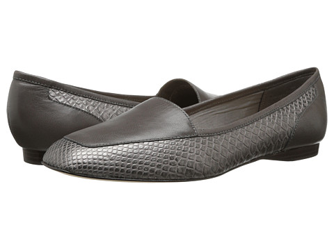 Circa Joan & David - Lucia (Pewter Dark Grey Synthetic) Women's Slip on Shoes