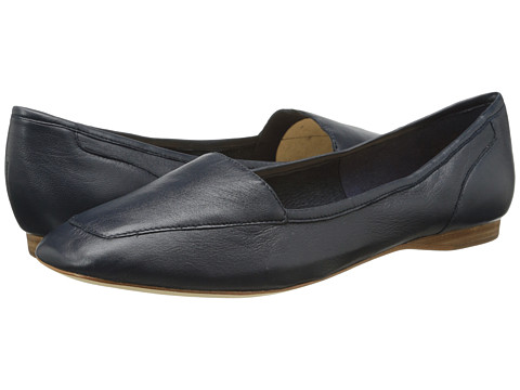 Circa Joan & David - Lucia (Navy Leather) Women's Slip on Shoes