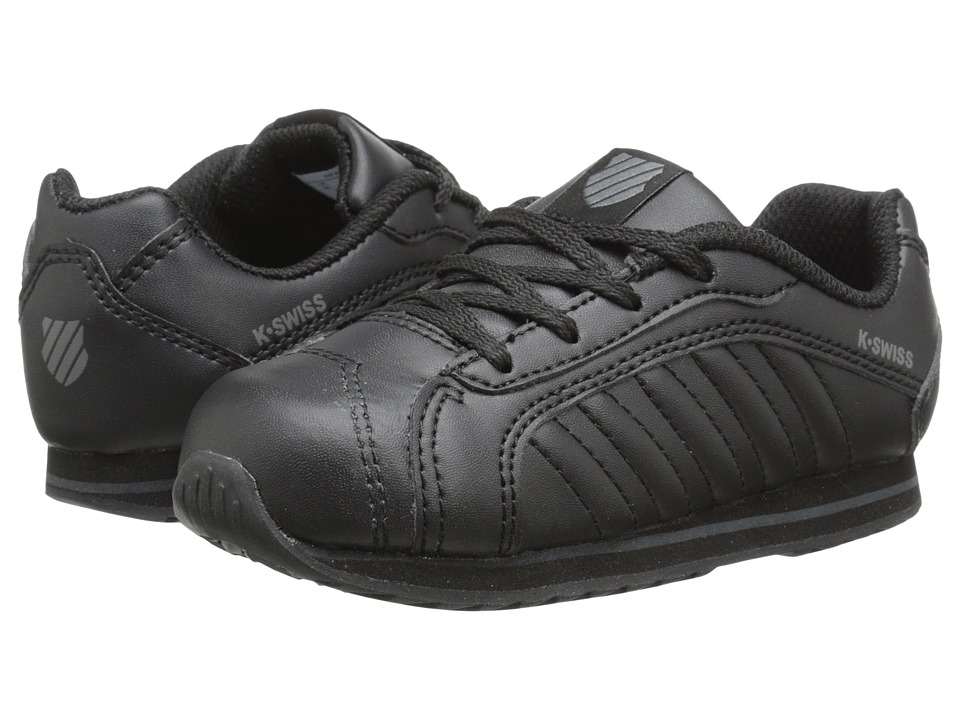K-Swiss Kids - Verstad III S (Infant/Toddler) (Black/Black) Kids Shoes