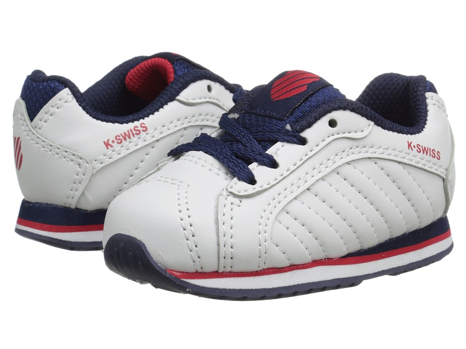K-Swiss Kids - Verstad III S (Infant/Toddler) (White/Navy/Red) Boys Shoes