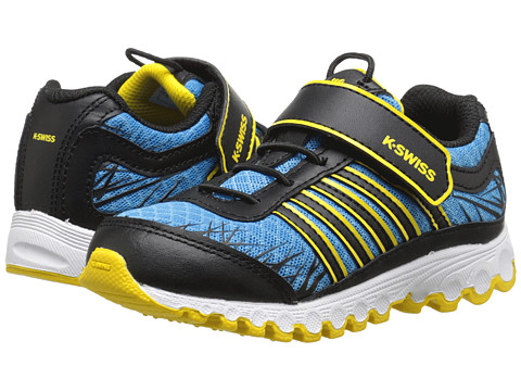 K-Swiss Kids - Tubes 151 Mesh Strap (Infant/Toddler) (Blue Aster/Black/Cyber Yellow) Boys Shoes