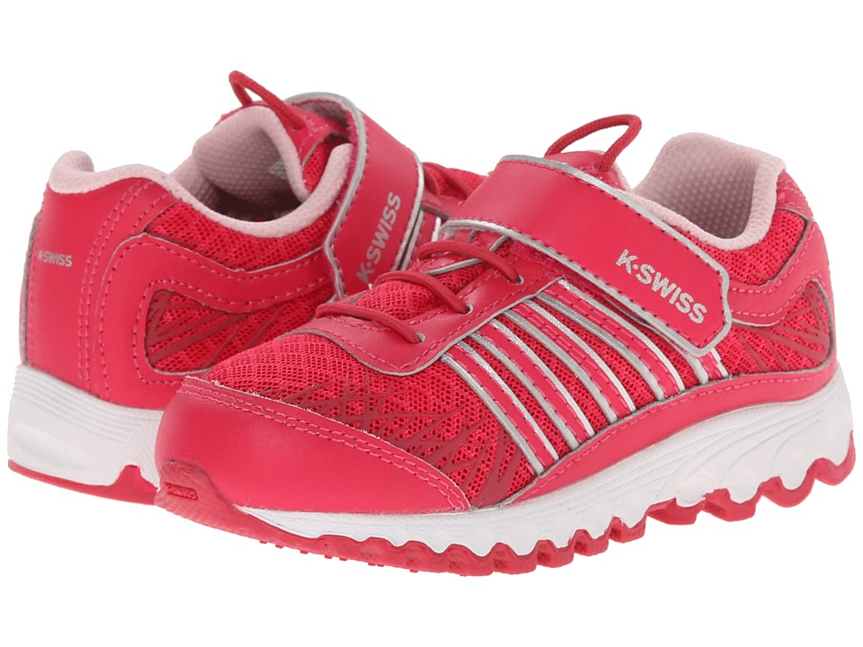 K-Swiss Kids - Tubes 151 Mesh Strap (Infant/Toddler) (Raspberry/Silver) Girls Shoes