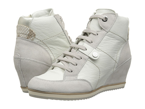 Geox - D Illusion 25 (White/Off White) Women's Shoes
