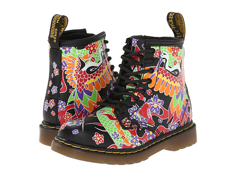 Dr. Martens Kid's Collection - Brooklee 8-Eye Lace Boot (Toddler) (Multi Psych Tattoo Softy T) Girls Shoes