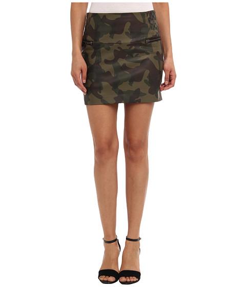 Sam Edelman - Camo Leather Mini Skirt (Forest) Women