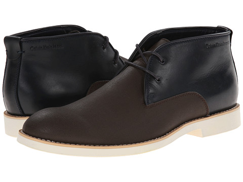 Calvin Klein Jeans - Chester (Dark Brown Leather/Midnight Canvas) Men