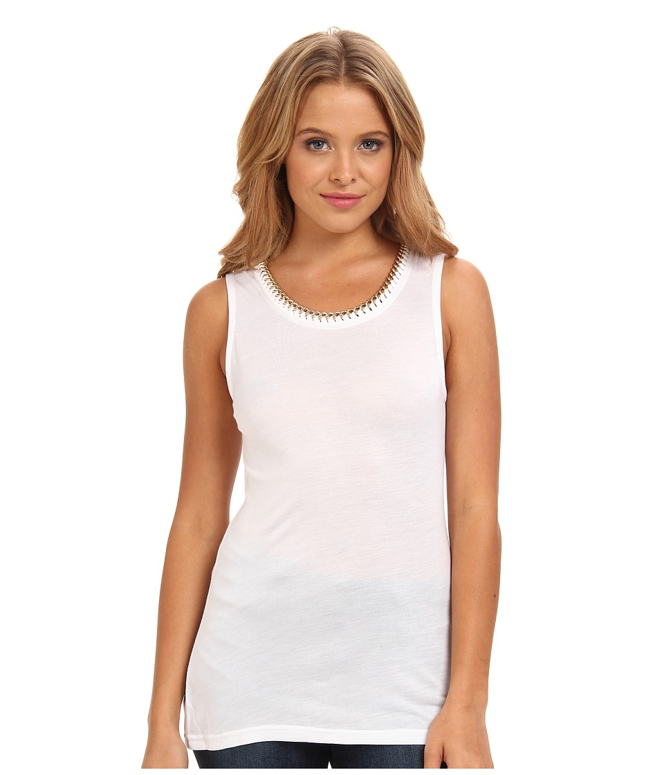 Sam Edelman - Chain Knit Tank Top (White) Women's Sleeveless