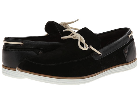 Calvin Klein Jeans - Sonny (Black Suede/Smooth) Men's Slip on Shoes