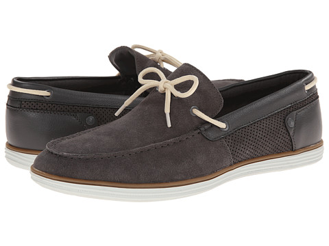 Calvin Klein Jeans - Sonny (Dark Grey Suede/Smooth) Men's Slip on Shoes