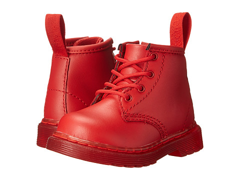 Dr. Martens Kid's Collection - Brooklee B 4-Eye Lace Boot (Toddler) (Red Softy T) Kids Shoes