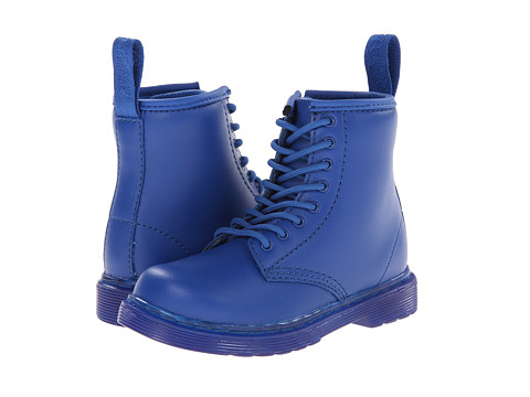 Dr. Martens Kid's Collection - Brooklee 8-Eye Lace Boot (Toddler) (Blue Softy T) Kids Shoes