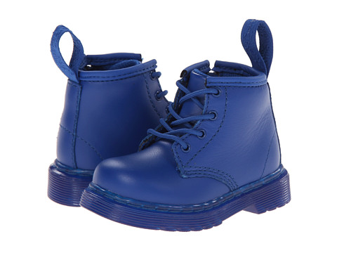 Dr. Martens Kid's Collection - Brooklee B 4-Eye Lace Boot (Toddler) (Blue Softy T) Kids Shoes