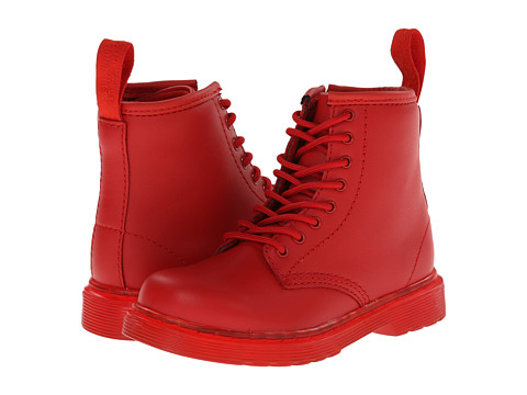 Dr. Martens Kid's Collection - Brooklee 8-Eye Lace Boot (Toddler) (Red Softy T) Kids Shoes