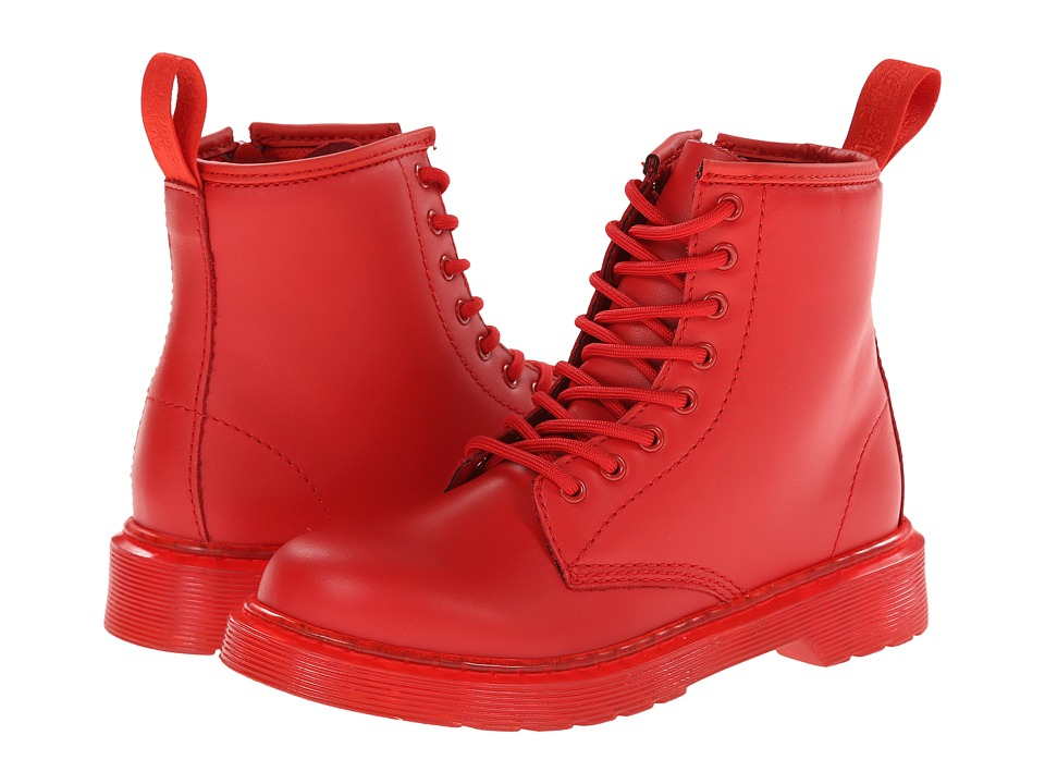 Dr. Martens Kid's Collection - Delaney Lace Boot (Little Kid/Big Kid) (Red Softy T) Kids Shoes