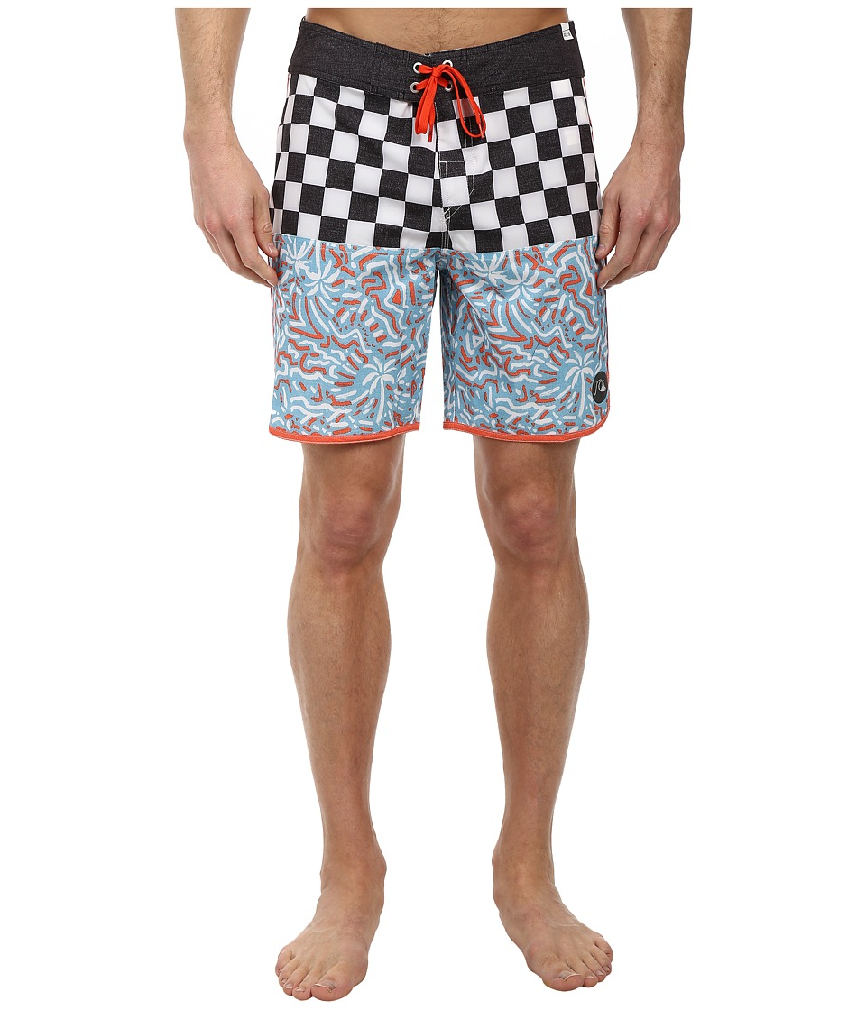 Quiksilver - Quad Rock 18 Scallop Boardshort (Black) Men's Swimwear