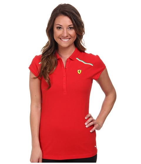 PUMA - SF Polo (Rosso Corsa) Women's Short Sleeve Pullover