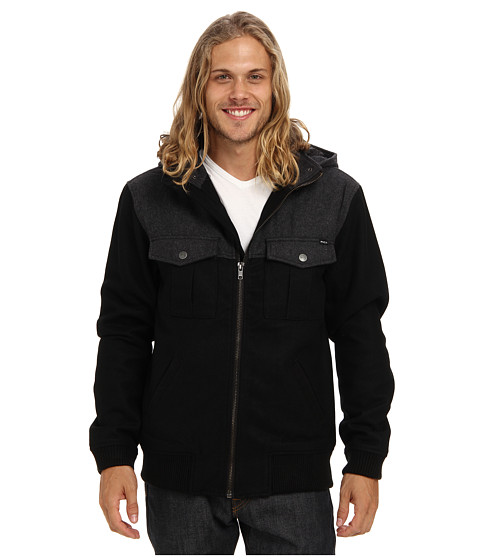RVCA - Atom Jacket (Black) Men's Coat