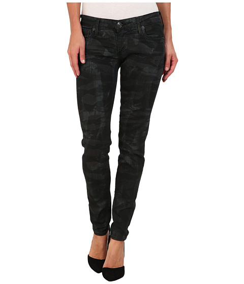 True Religion - Casey Low-Rise Super Skinny in Tiger Camo (Tiger Camo) Women's Jeans