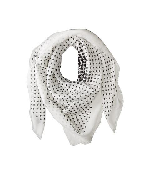 Alexander McQueen - Pom Pom Skull (White/Black) Scarves
