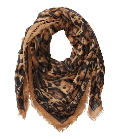 Alexander McQueen - Animalier Skull (Camel/Black) Scarves