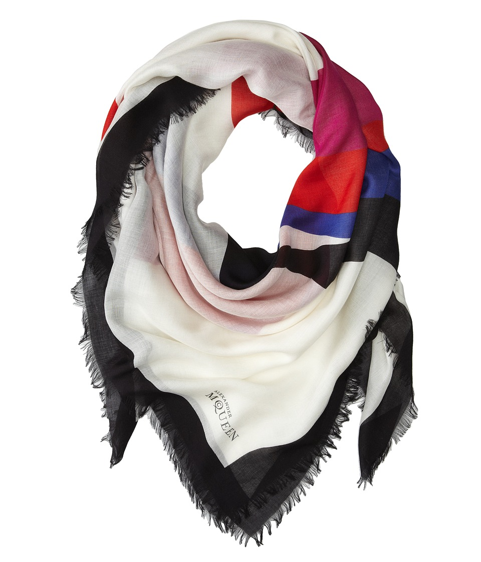 Alexander McQueen - Heart Scarf (White/Red) Scarves