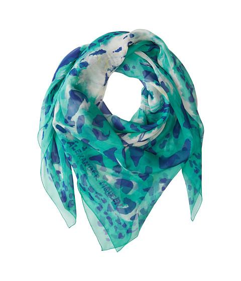 Alexander McQueen - Metamorphose Leop (Grass Green/Blue) Scarves