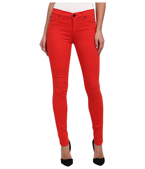 Hudson - Nico Mid-Rise Super Skinny in Infrared (Infrared) Women's Jeans
