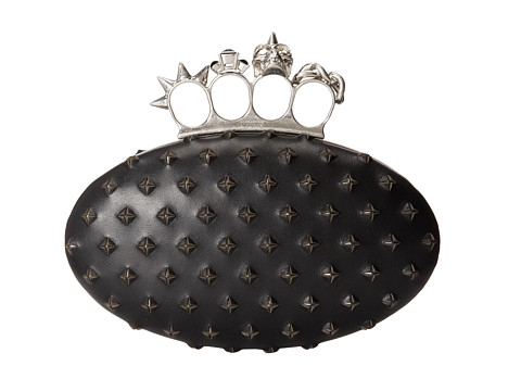 Alexander McQueen - Oval Clutch (Black) Clutch Handbags