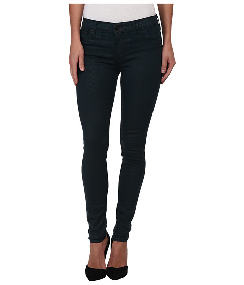 Hudson - Nico Mid-Rise Super Skinny in Non Conformist (Teal/Plaid) (Non Conformist (Teal/Plaid)) Women's Jeans