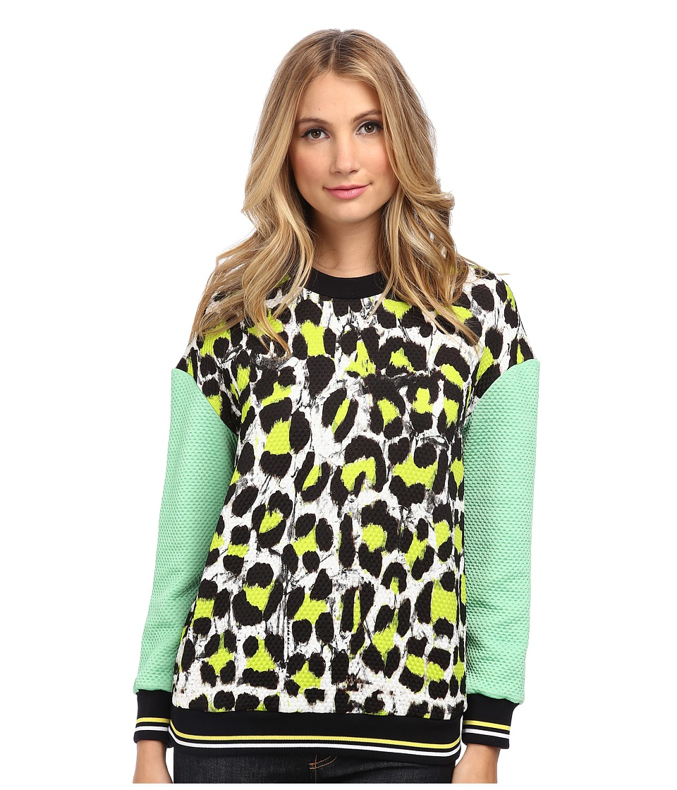Just Cavalli - Animal Print Sweater (White/Black) Women's Sweater