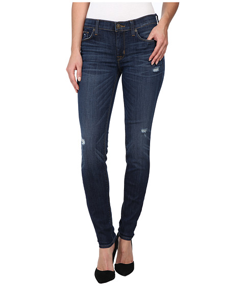 Hudson - Nico Mid-Rise Super Skinny in Cruel/Slight Distress (Cruel/Slight Distress) Women