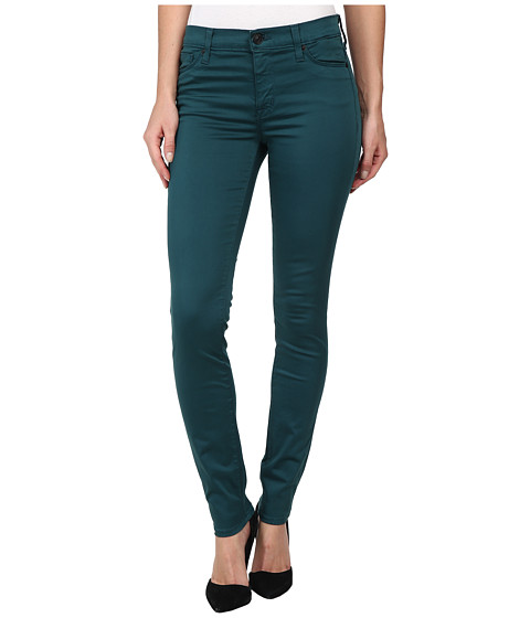 Hudson - Nico Mid-Rise Super Skinny in Graphite Teal (Graphite Teal) Women's Jeans