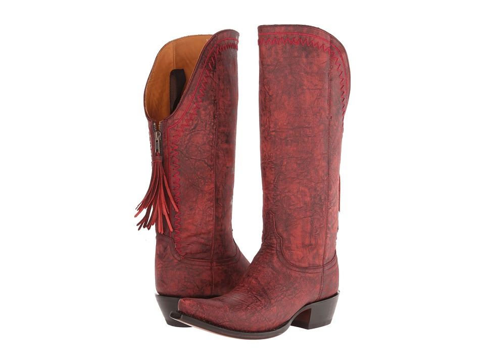 Lucchese - M4909 (Black Cherry) Cowboy Boots