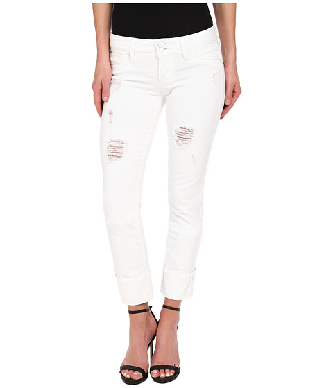 Hudson - Ginny Crop with Distressing in Gateways (White Distress) (Gateways (White Distress)) Women's Jeans