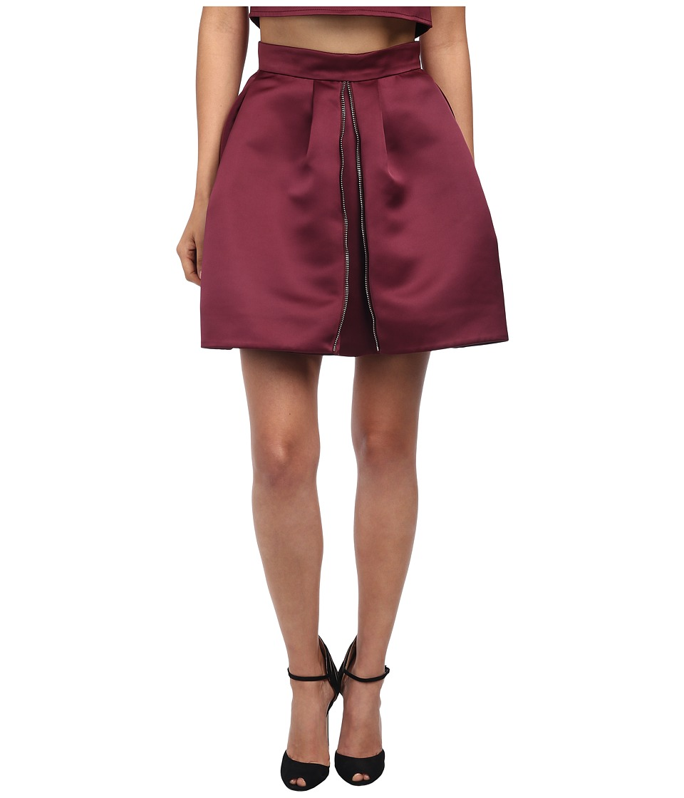 McQ - Zip Part Skirt (Blood Red) Women's Skirt