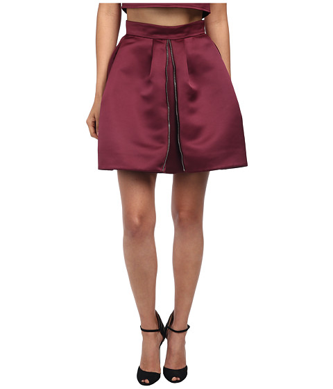 McQ - Zip Part Skirt (Blood Red) Women
