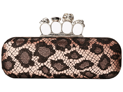 Alexander McQueen - Knuckle Box Clutch (Black/Flame) Clutch Handbags