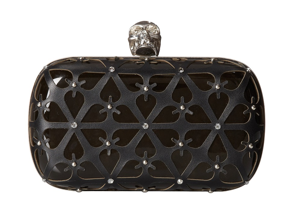 Alexander McQueen - Classic Skull Clutch (Black/Brown) Clutch Handbags