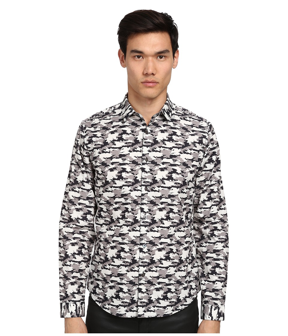 Theory - Stephan Skyros Camo (Oil Multi) Men's Long Sleeve Button Up