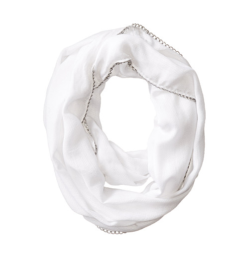 Vince Camuto - All Chain Up Loop (White Clay) Scarves