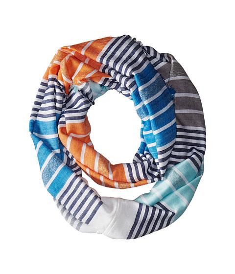 Vince Camuto - Shimmer Striped Loop (Navy) Scarves
