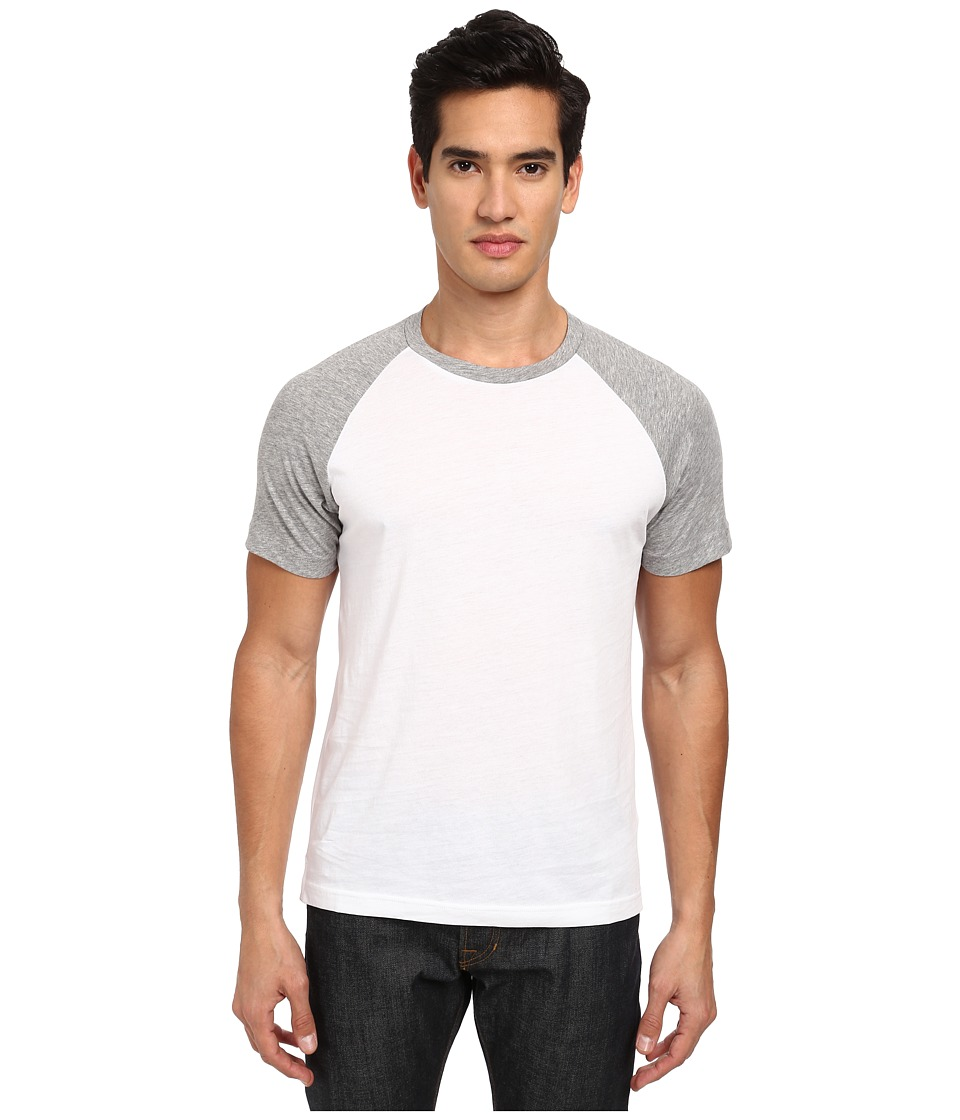 Theory - Jordun B T-Shirt (White/Light Heather) Men's T Shirt
