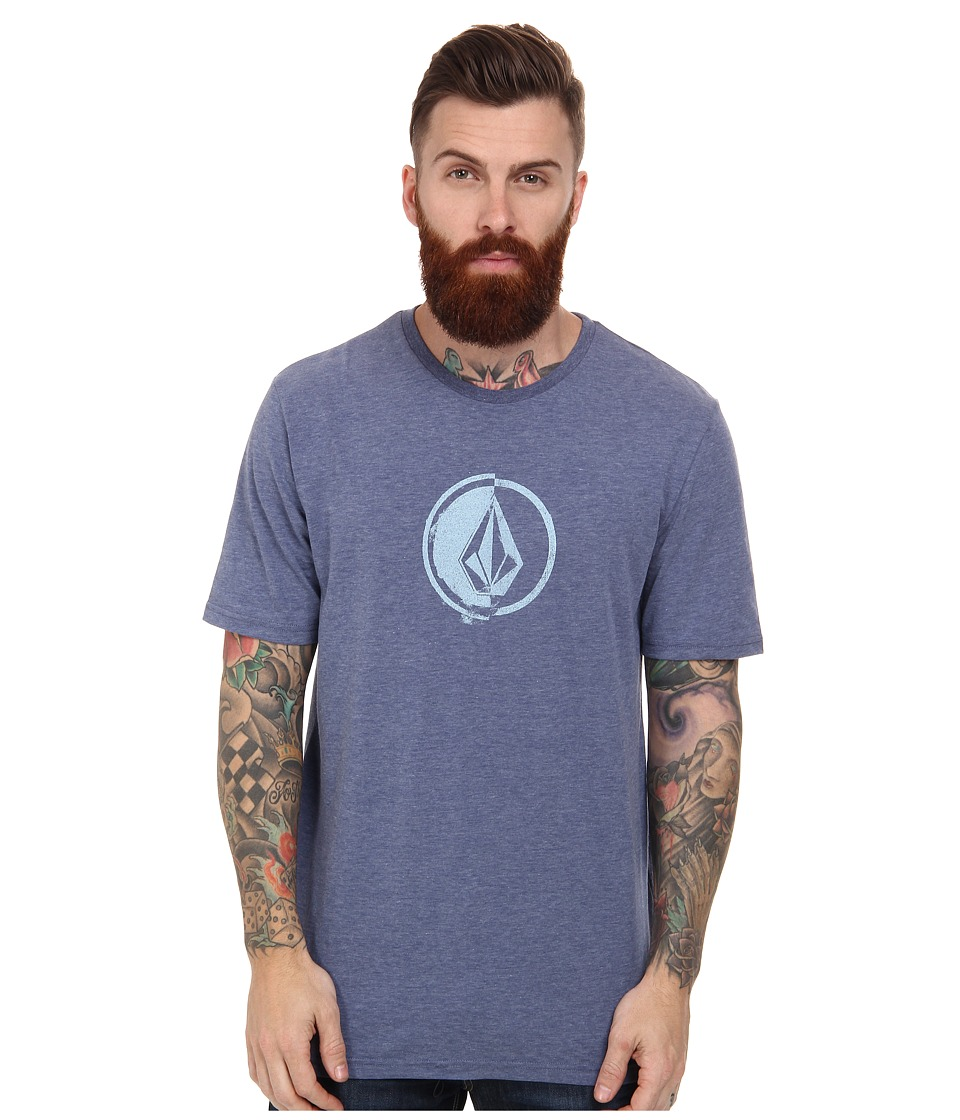 Volcom - Stacking Surf Tee (Matured Blue) Men's T Shirt